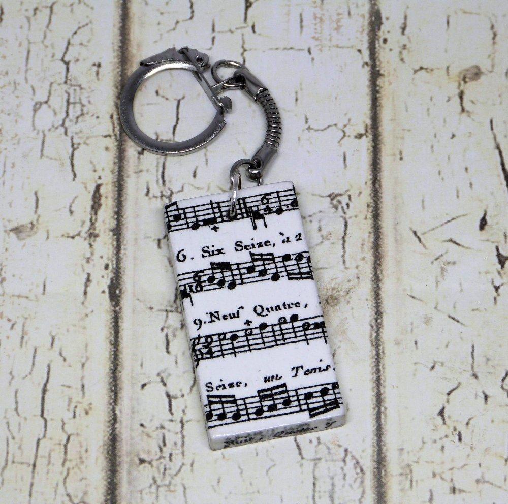 Porte clés partition de musique