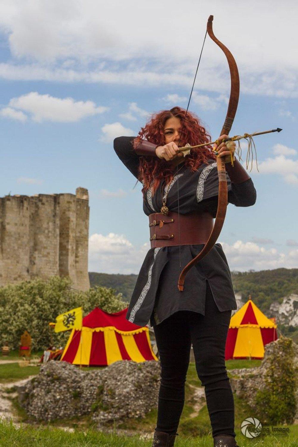 Veste médiévale mixte, veste d'archer style médiéval fantasy