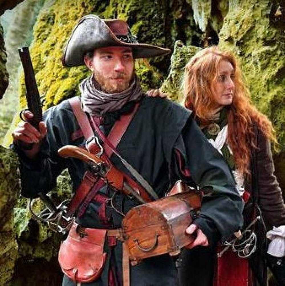 Veste homme pour un pirate ou corsaire, convient pour un costume 18 eme siècle ou en médiéval fantastique