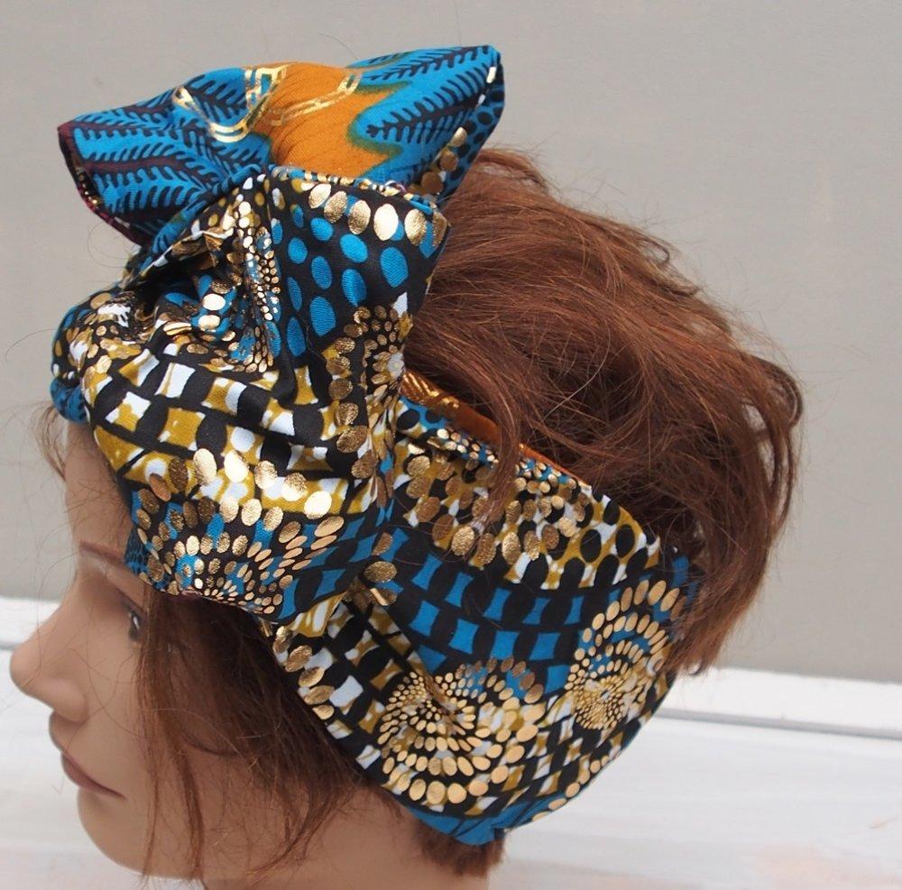 BANDEAU z'oreilles en tissu WAX -1218-4