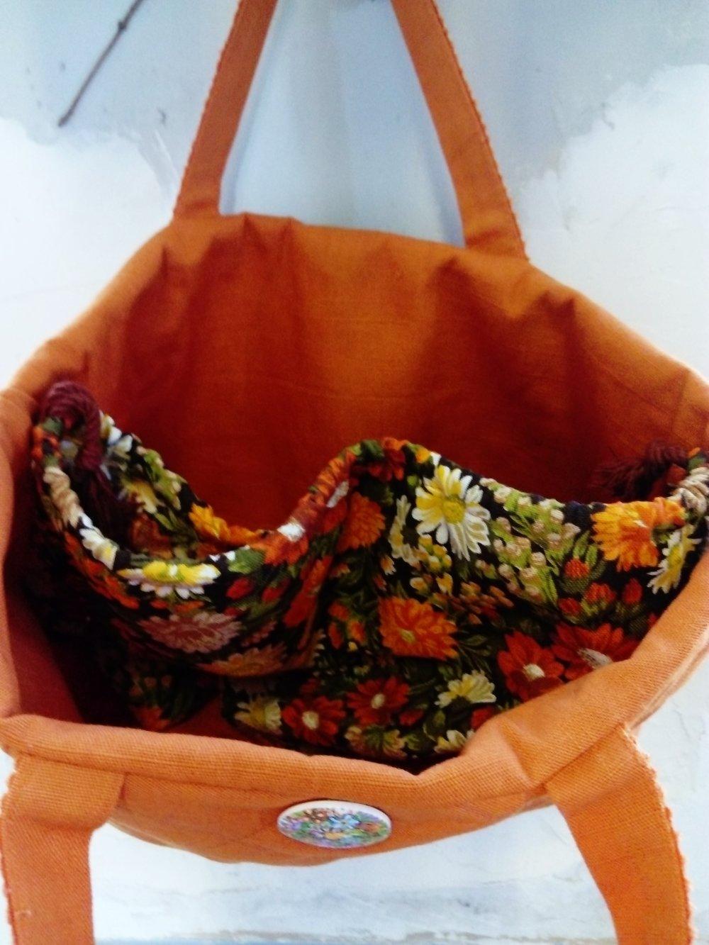 Sac à main floral vintage