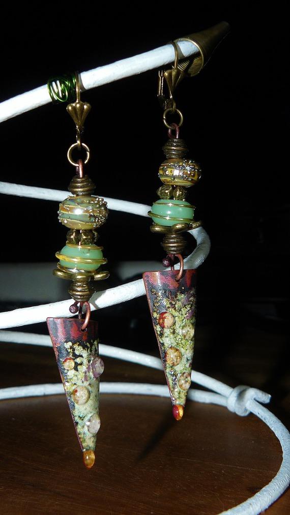 VENDU - Elfiques ✿ Boucles d'oreilles - Bijoux de créateur