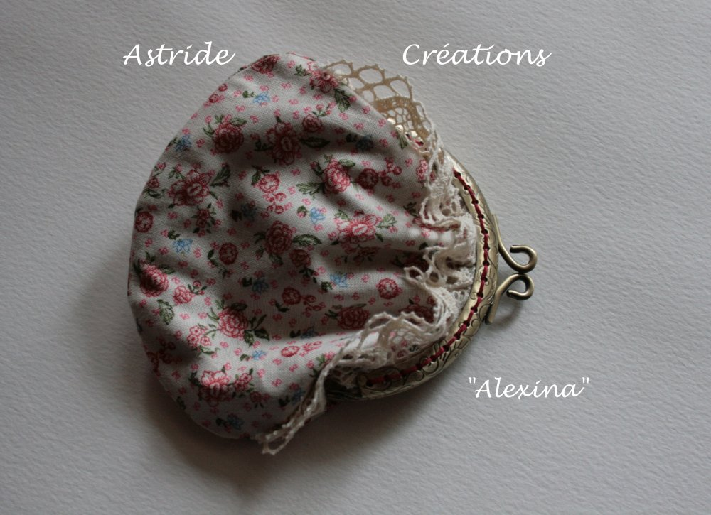 """Alexina"" porte-monnaie coton fleuri"