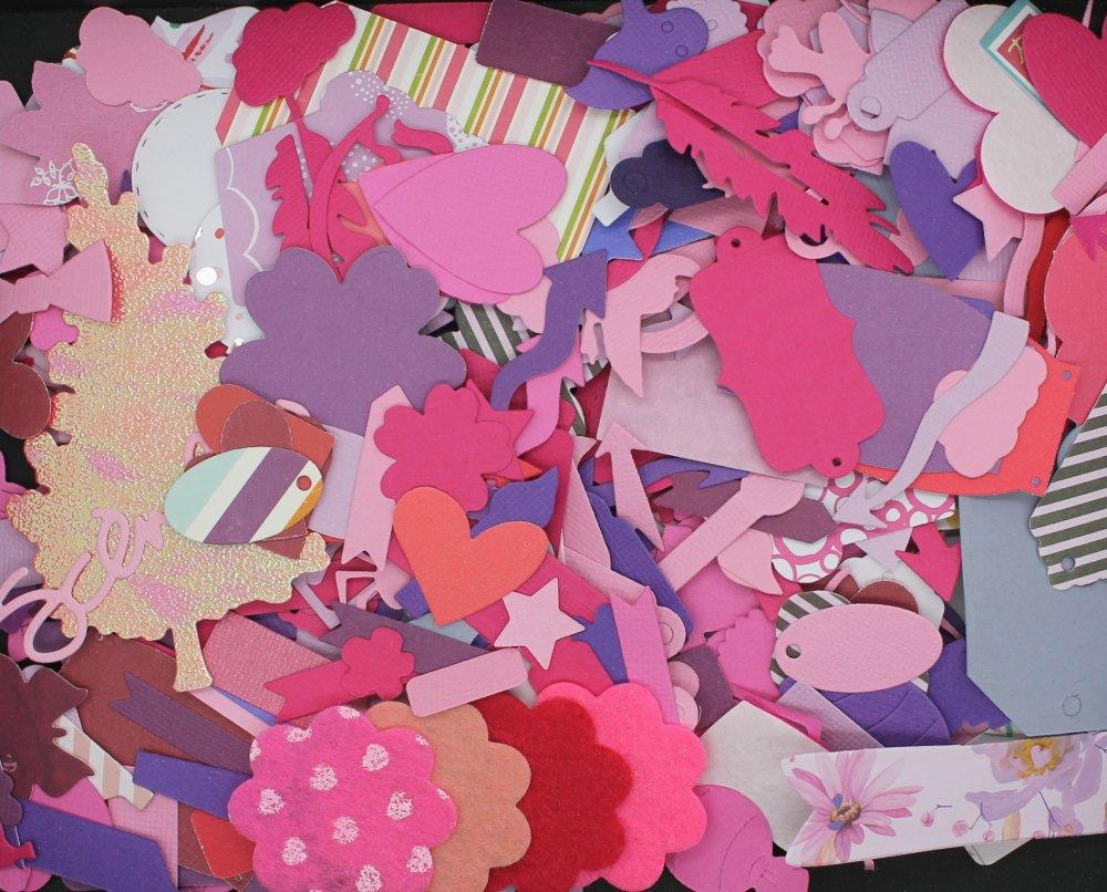 DÉCOUPE,gros lot de die cut,fourniture fait main,embellissement,scrapbooking,activité manuelle,carterie,papier,feutrine,violet,rose,mauve