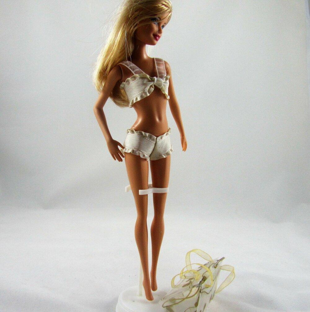 """Vêtements pour poupée Barbie - """"Collection Lingerie - Douceur satinée"""""""