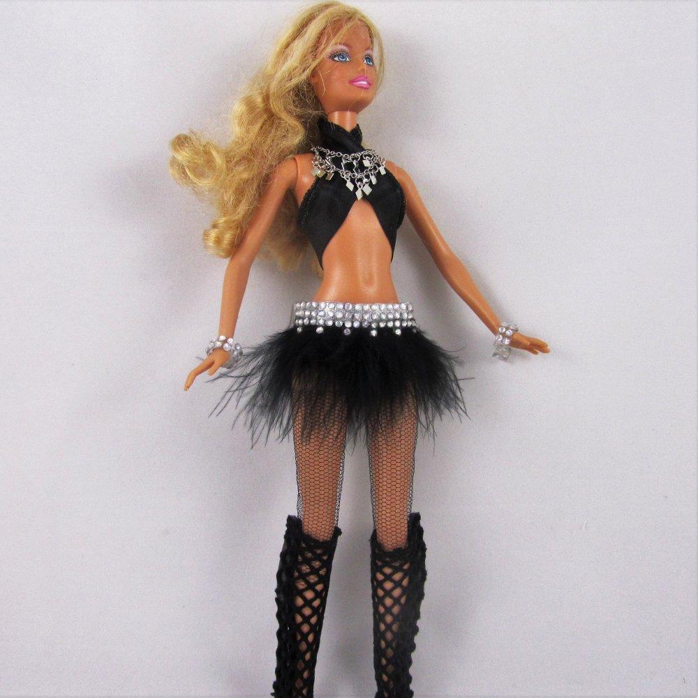 """Vêtements pour poupée Barbie - """"Tenue de scène Britney"""" - Commande - Réservé"""