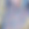 Coussin passepoilé, rayé bleu et rose pâle