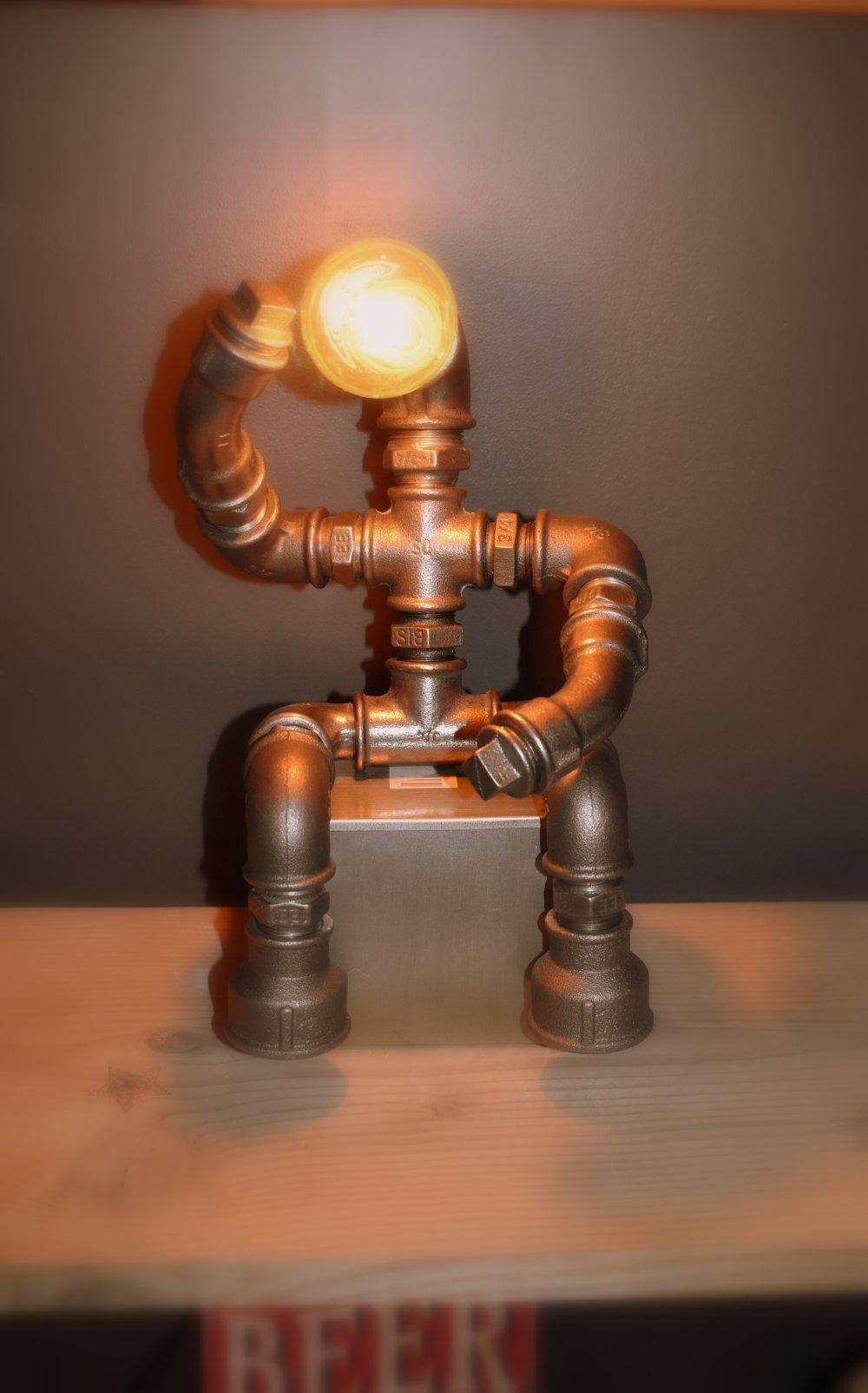 Lampe décoration style industriel