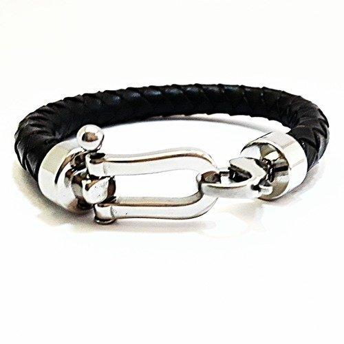 attache bracelet cuir