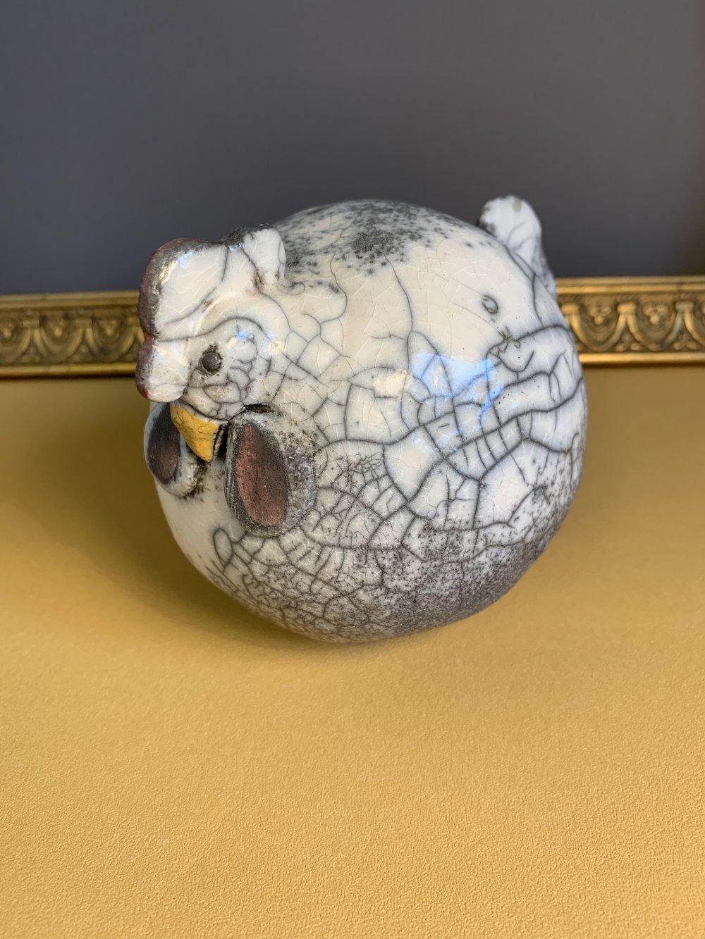 Poule en raku mat