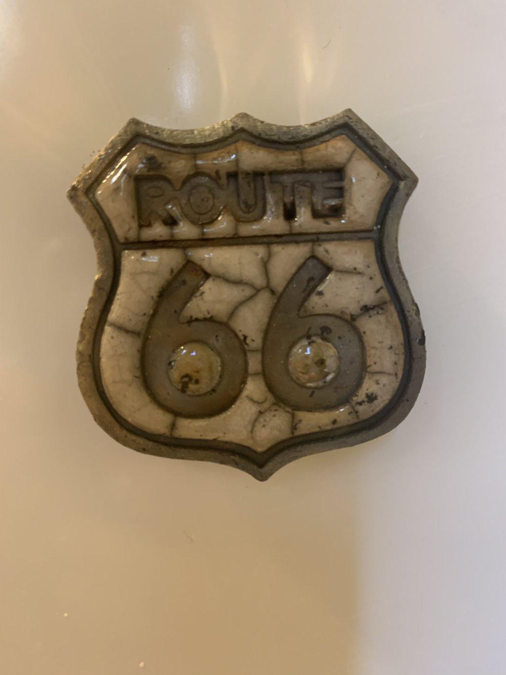Magnet route 66 céramique raku