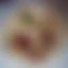 """Corbeille à pain en tissus patch jaune et rouge """"belles poules"""" fait main pièce unique"""