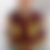 Vêtement de poupée  50 cm robe coton wax et galon jaune   fait main