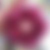 """Tawashi fleur de douche ou fleur de vaisselle lavable et durable """" rose fushia foncé"""" au crochet fait main"""