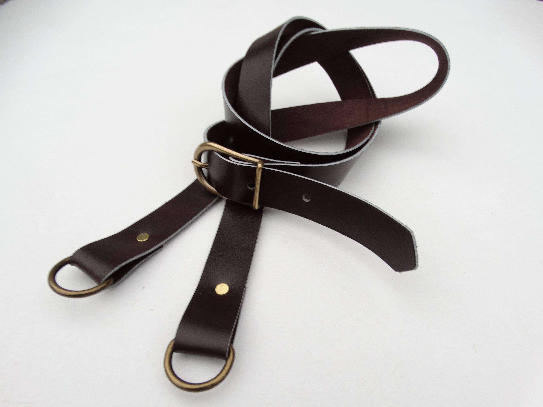 Bandoulière anse de sac réglable en cuir marron