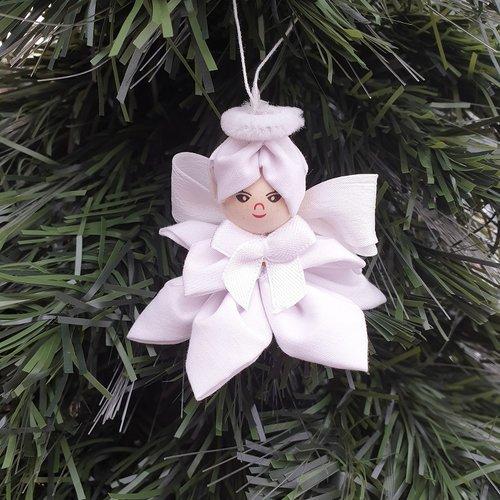 Petit Ange De Noel Decoratif Fait Main Hauteur 7 5 Cm