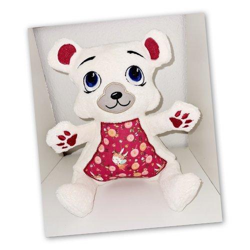 Peluche doudou ours en tissu oeko tex taille 4