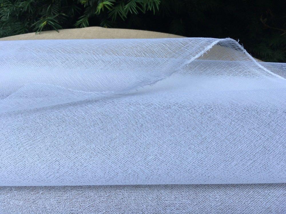 COTON APPRETÉ BLANC par 50 cm