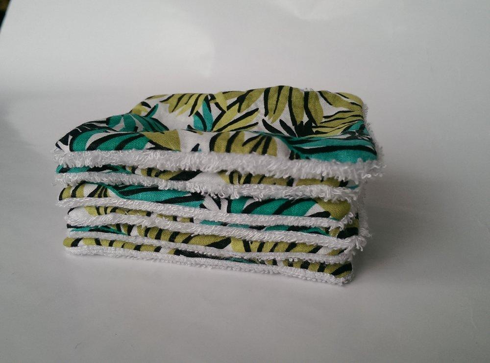 Kit 6 lingettes lavables éponge de bambou + trousse assortie
