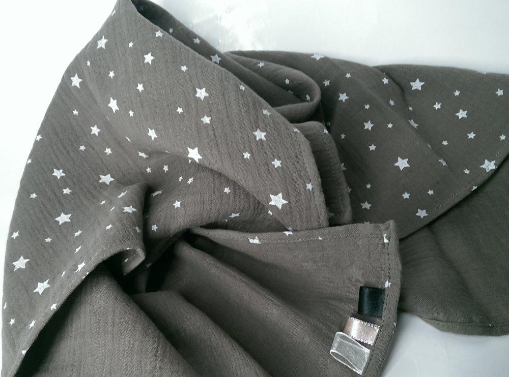 Langes coton double gaze imprimé étoiles