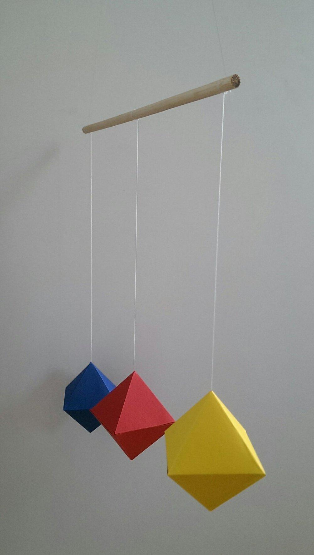 Mobile des OCTAEDRES Montessori