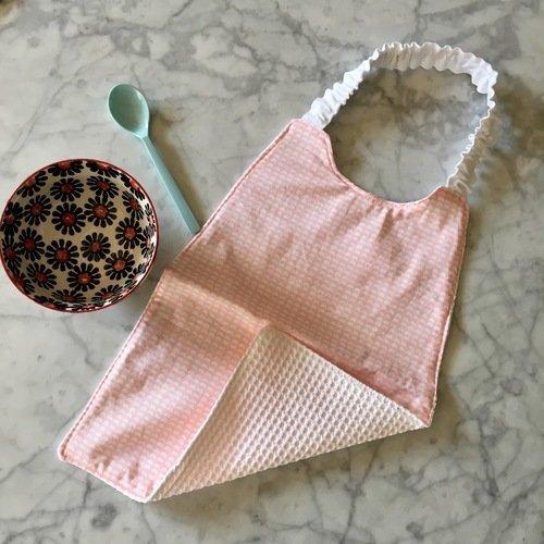 Serviette De Table Elastiquee Pour L Ecole Maternelle Tissu Rose