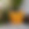 Cabas en laine jaune safran - modele unique - 100 % français - atelier dix9