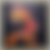 Tableau noir art déco design motif perroquet, tableau de décoration