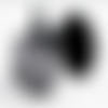 1 bague support cabochon 18*25 mm  métal noir