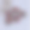 1 breloque pendentif-globe bulle en verre-paillettes multicolores