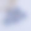 1 breloque pendentif-globe bulle en verre-paillettes pastel