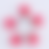 1 breloque pendentif-globe bulle en verre-etoiles rose-