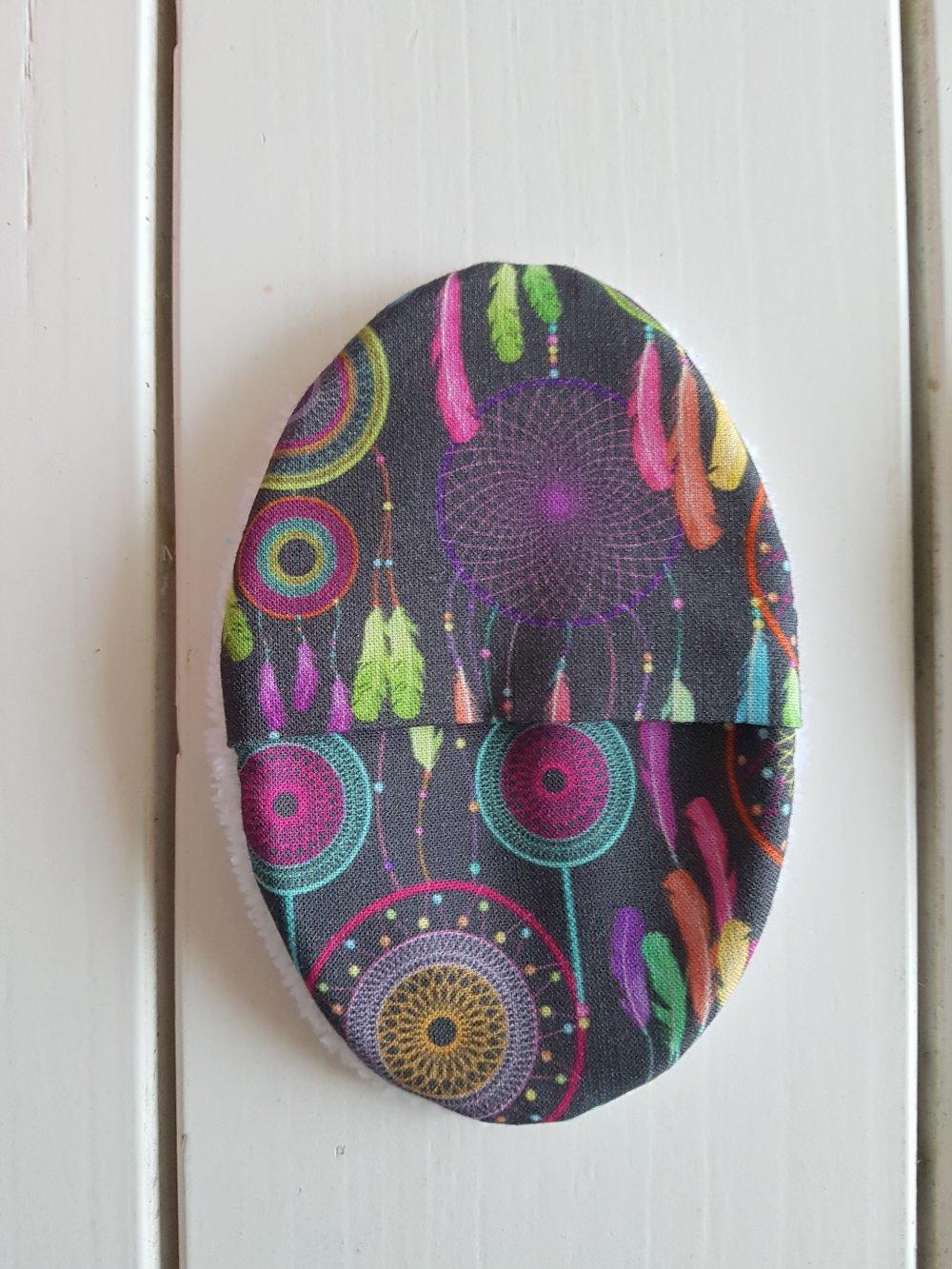Coton/lingette ovale lavable à l'unité en micro éponge de bambou attrapes rêves multicolors