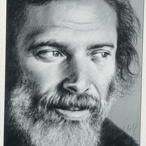 Georges moustaki poster reproduction portrait 20 x 27 cm