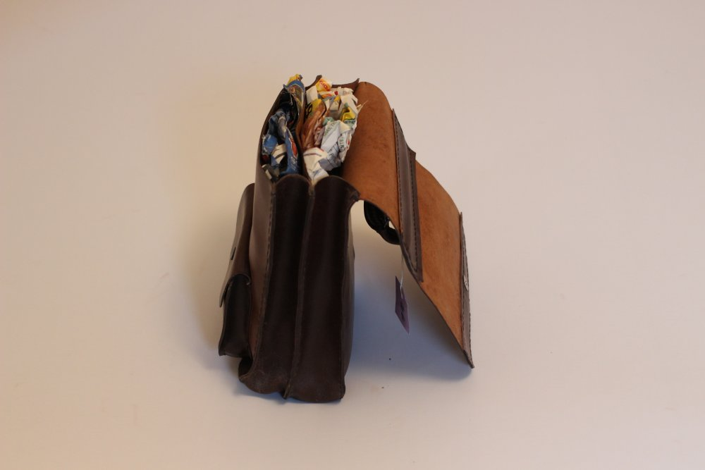 Sacoche artisanale cuir fait main