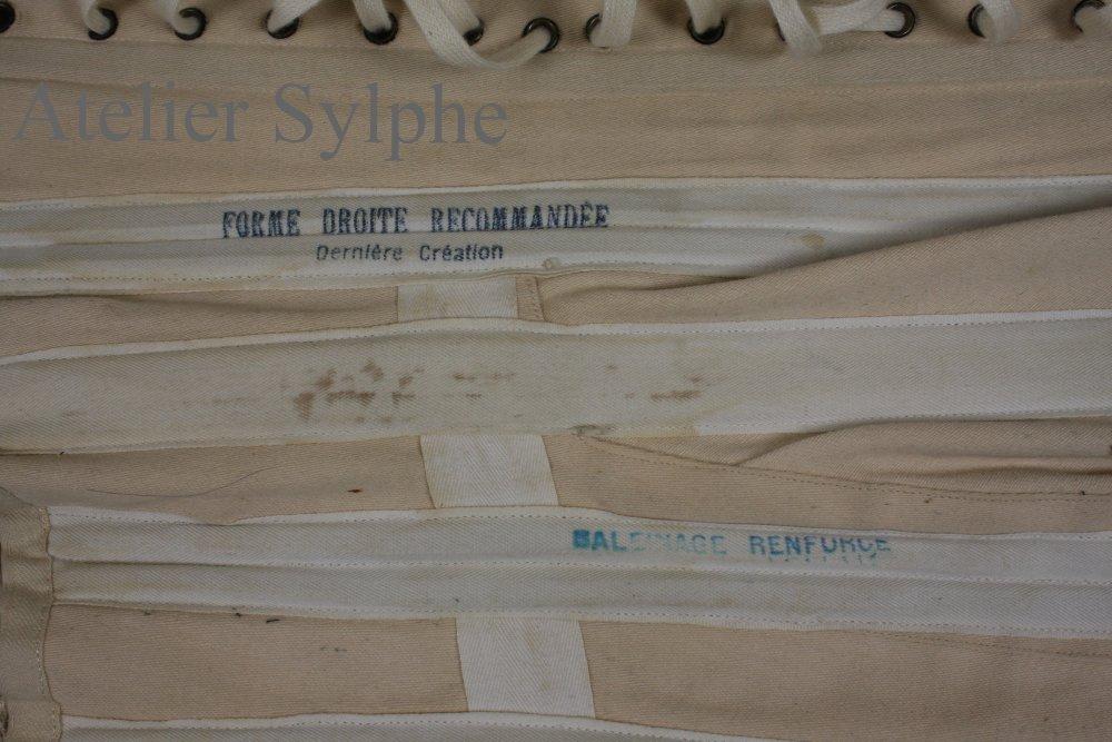 REF PO patronage de corset ancien Edwardien début XXem siècle
