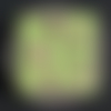 Lingette démaquillante verte
