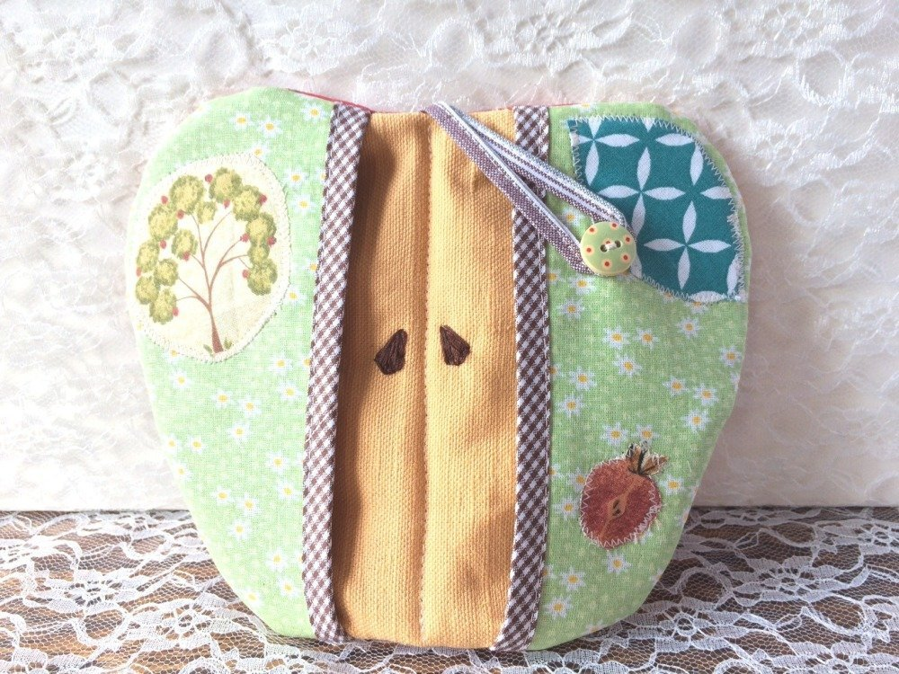 Manique/décoration de cuisine - pomme verte patchwork