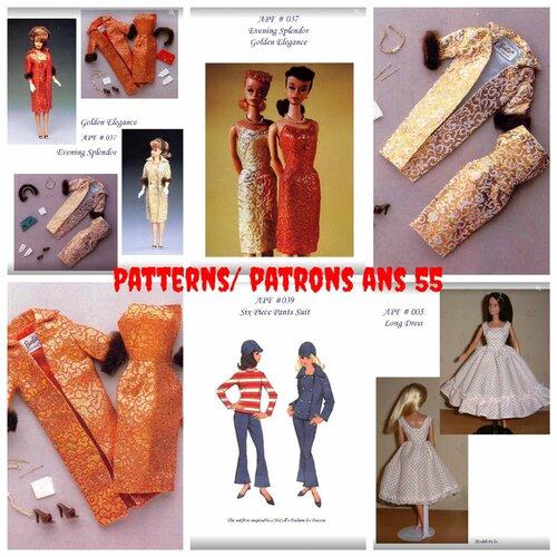 Petite livre vintage couture ,3 modelés vêtements poupée barbie en couture .pattern,tutoriels vintage anglais ans 50-60 ,format pdf