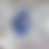 """Collier chat bleu et rose en fimo steampunk quilling """""""