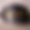 Barrette à cheveux en cuir noir «steampunk » avec pic en bois pour femme ou homme