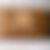 Blague à tabac en cuir brun vieilli, esprit amérindien, durable et robuste