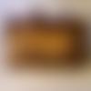 Blague à tabac en cuir, couleur brun vieilli, décorée d'un calumet, robuste et durable, esprits amérindien