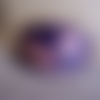 Barrette à cheveux artisanale en cuir violet, décorée d'un lys