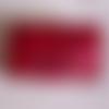 Blague à tabac en cuir rouge ou pochette à papier