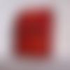 Etui à cigarette minimaliste en cuir rouge vieilli ou etui pour jeu de cartes
