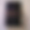 Protège livre artisanal en cuir noir, hauteur max du livre 21,5 cm