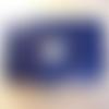 Blague à tabac en cuir bleu ou étui protège passeport