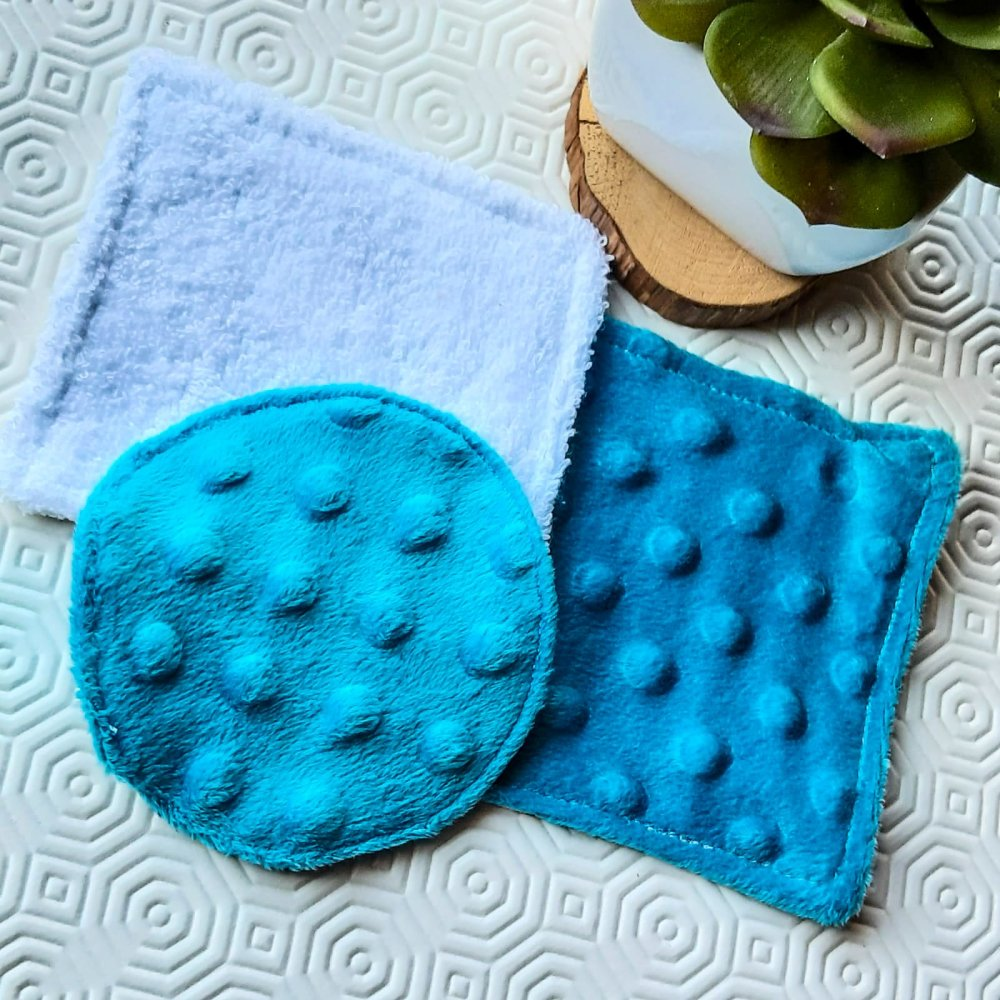 Lot de 3 lingettes lavables