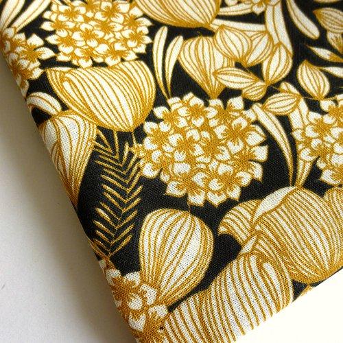 Tissu au mètre coton motifs fleurs tendance vintage